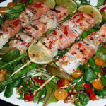 Fish skewers with Italian butter – 4 pers