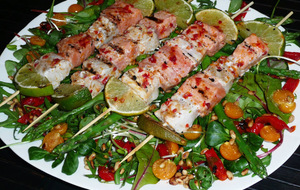 Fish skewers with Italian butter - 4 pers